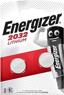 Energizer 628747 CR2032 - Batería de Litio para electrónica pequeña, 5004LC, 240 mAh, 3 V, 2 Unidades