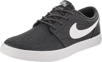 Nike Mens Sb Solar Portmore Ii Canvas Premium Skate Casual Sneakers, Grey, 8.5