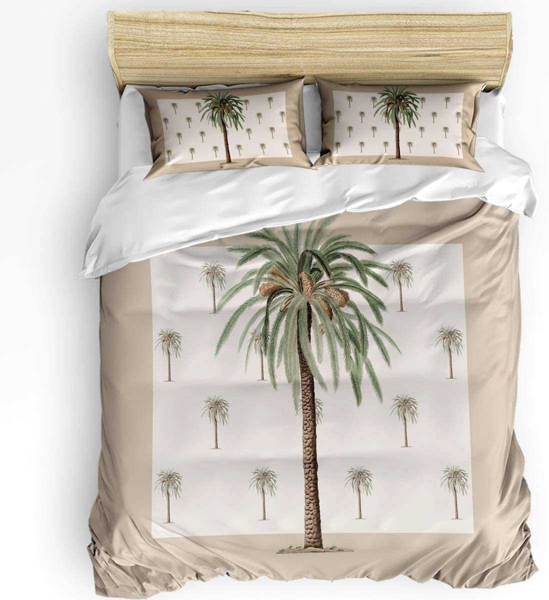 Teather Max 42% OFF 3-Piece Bedding Sets Coco Tree Cov Duvet Comforter It is very popular Set -
