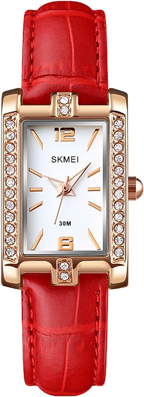 Reloj Mujer Elegante Resistente al Agua Relojes de Pulsera Analógico de Cuarzo Relojes Cuadrado para Mujer