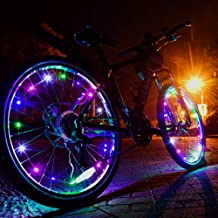 CYCPLUS Bike Wheel Lights with Batteries Included Safe and Visible Lighting Tire Accessories Waterproof Bicycle Wheel Light String Ultra Bright LED (1 Pack for One Wheel)