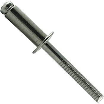 DERING Blindniet 6,4x12 mm mit Flachkopf DIN 7337 Edelstahl A2 rostfrei | Nieten 20 St/ück