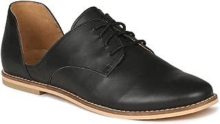 VAPH Women's Genunie Leather Lace-up Flats Natalie Oxfords Shoes for Women