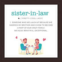 Hopeful Bay Sister in Law Gifts | 7x7 Tile Artwork for Future Sister-in-Law | Appreciation Gift for Sister | Meaningful Art Print for Sister-in-Law | Great for Room Decor | Ideal for Teens and Women