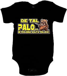 Body bebé parodia Ewok de tal palo mi pequeña bolita peluda - Negro, 6-12 meses