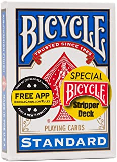 Bicycle Stripper Trick Playing Cards - Blue