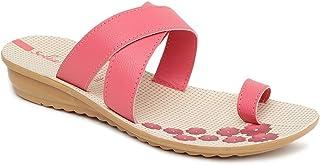 PARAGON Women Pink Slippers-4 UK (35.5 EU) (PU7292L-Pink)