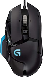 Logitech G502 Proteus Spectrum RGB Tunable Wired Gaming Mouse, 12,000 DPI, Adjustable Weights, 11 Programmable Buttons, Compatible with PC/Mac, Black