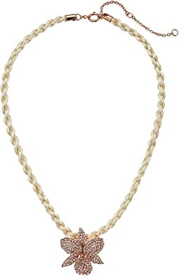 Large Orchid Pave Necklace