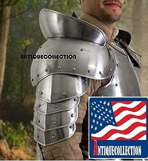 ANTIQUECOLLECTION Plate Armour Medieval Renaissance LARP Steel Warrior Pauldron Armor Set SCA Costume