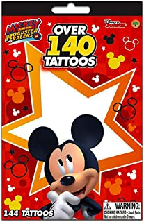 Disney Junior Mickey Mouse & The Roadster Racers Over 140 Temporary Tattoos Booklets - Easy To Apply & Remove, Smudge Proof, Cute Assorted Designs - Party Favors & Handouts (1-pack)