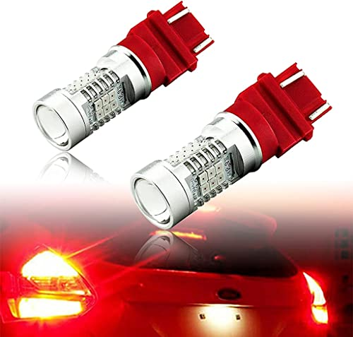 discount 3157 3156 Rear Brake outlet sale Red Light Bulbs, 2 Pieces CREE LED Set for 1997-2018 outlet sale Ford F-150 and More Trucks and Cars, 20W 2000 Lumens online sale