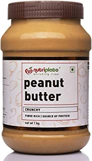 Nutriplato-enriching lives Peanut Butter Crunchy 1 Kg- Fiber Rich ; Source of Protein