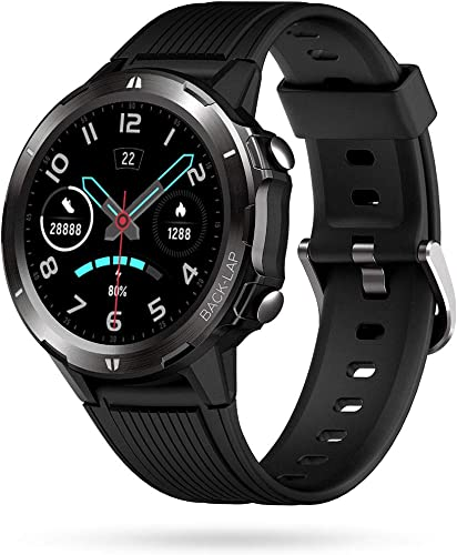 Portronics YOGG Kronos Alpha Smart Watch With Fitness Tracker Heart Rate Monitor Call SNS Reminders 12 Sports Modes 5ATM Waterproof Dust Resistant Black