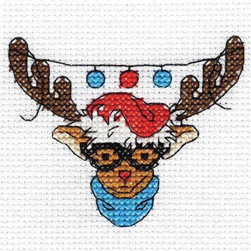 DMC Christmas Character Mini Cross Stitch Kit - Rudolph