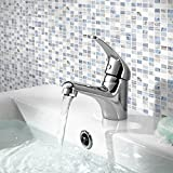Home Standard® Dallas Premium B<span class='highlight'>at</span>hroom <span class='highlight'>Single</span> <span class='highlight'>Lever</span> Chrome Mono Basin Sink Mixer Tap with Slotted Spring Waste