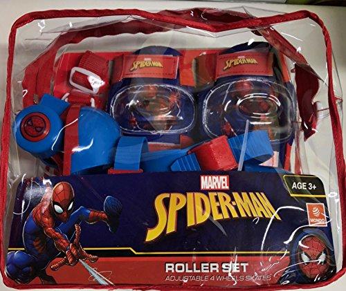 Spiderman Set Kinder Inline Skates mit Schützern Größe 22bis 29