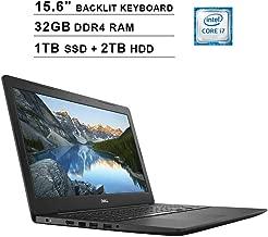 $1008 Get 2019 Dell Inspiron 15 5000 15.6 Inch FHD Laptop (Intel Quad Core i7-7500U up to 3.5 GHz, 32GB RAM, 256GB PCIe SSD + 2TB HDD, Intel HD 620, Standard Keyboard, WiFi, Bluetooth, HDMI, Windows 10)