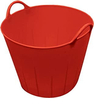 Little Giant Poly/Rubber Flex Tub, 11-Gallon, Red