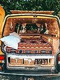 Peel Forest Patio Rug Blanket Rugs Aztec red Navajo Tribal Throws Boho Camper Van. Van Life Bohemian Outdoors Sofa Couch Ethnic Beach mat (62'X86')…