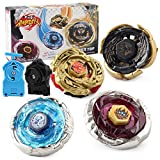 CLeternal Metal Master Fusion Storm Lightning with 4D Launcher Grip Gyro Top Set