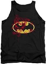 Batman Shield with Joker Graffiti HA HA Ha Licensed Adult Tank Top All Sizes
