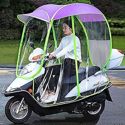 RLRL Paraguas Impermeable Plegable Eléctrico Completamente Cerrado para Bicicleta Universal, Parasol para Motocicleta, Parasol, Cubierta para Lluvia (Color : Purple, Size : Rearviewmirror)