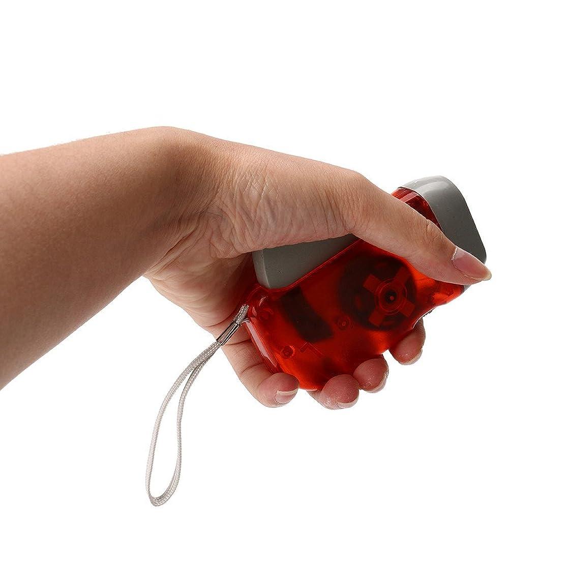 発電式LEDライトLEDライト BOBOGOJP ハンドプレッシング 懐中電灯 キャンプランプ 手動発電 電池不要 便利 軽い 手回し充電 フラッシュライト ハンディライト 防災グッズ (レッド)