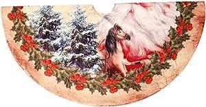 WWLDPTTCDArbre de Noël Jupe 120CMMotif deTissu Non TisséArbre de Noël