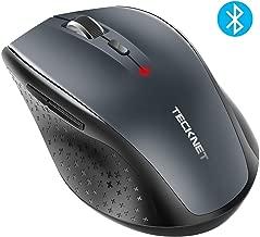 TECKNET Alpha 3000 dpi Ratón Inalámbrico Bluetooth, Wireless Mouse con Indicador LED de Batería, 5 Niveles Ajustables de dpi, 24 Meses Duración de Batería