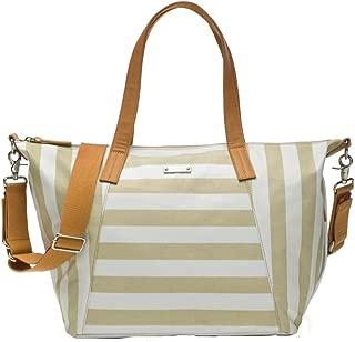 Storksak Noa Shoulder Bag Diaper Bag with Organizer, Stripe Fawn