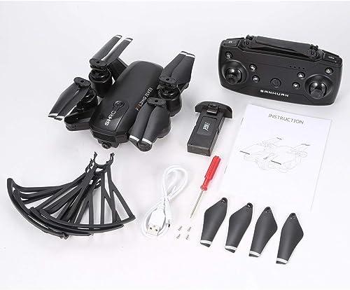 compras online de deportes Funnyrunstore H1W RC Drone Drone Drone Quadcopter 1080P 2.4G WiFi Aviones Avión Posicionamiento óptico Sin Cabeza Una tecla Regreso Plegable VR Vuelo en Vivo  el más barato