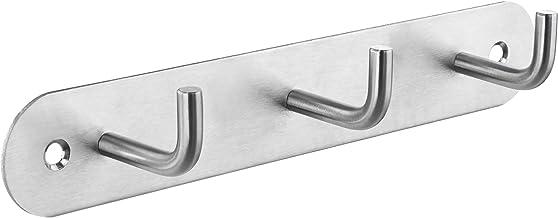 Gedotec Design garderobehaak roestvrij staal kledinghaak 3-voudig | Heaven | handdoekhaak mat zilver | wandhaak om te schr...