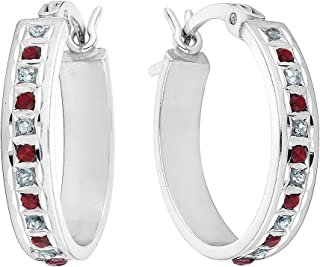 Best ruby diamond hoop earrings Reviews