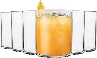 Bormioli Rocco 12 Stück Aere Trinken Tumbler Gläser Set - moderner Stil Glas Trinkgläser für Wasser, Saft, Whiskey - 280ml