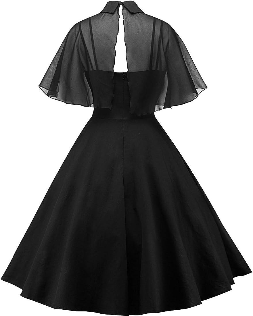 EUDOLAH Abito da Sera per Donna Stile Classic Vestiti Vintage A-Linea per Festa Cocktail