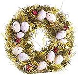 Britesta Türkranz: Osterkranz mit rosa- und fliederfarbenen Eiern