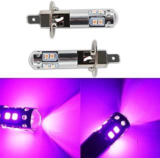 2pcs H1 14000K Purple LED Headlight Bulbs Kit Fog Driving Light DRL