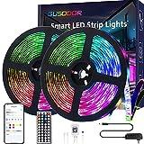 Gusodor Led Strip Lights 32.8 Feet Smart Led Lights for Bedroom Color Changing...