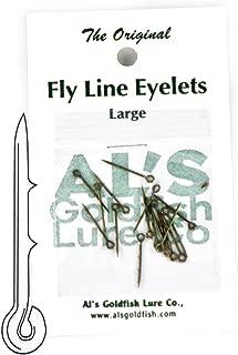 Al's Goldfish Lure Co. FL24-2 Fly Line Eyelet, Silver Finish