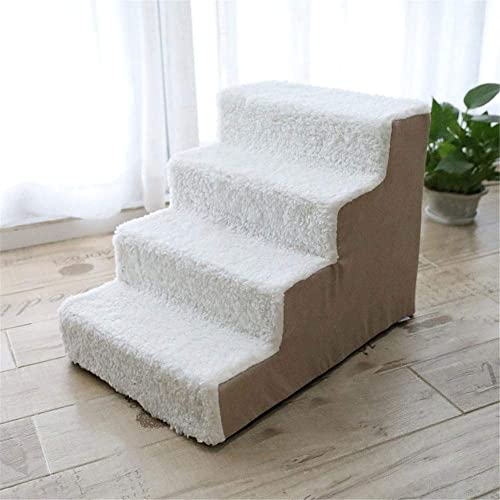 ASDBHMASA Pet Dog Cat Climbing Ladder Sofa Toy Dog Sponge Step Bed Fournitures Petit Teddy Sofa Bed Climber Cat échelle Amovible,B