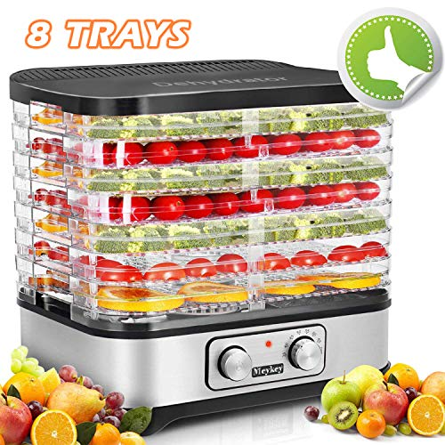 Homdox Food Dehydrator Machine, Jerky Dehydrators with 8 Trays, for Jerky/Meat/Beef/Fruit/Vegetable, 400Watt, Knob Button
