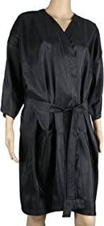 Segbeauty Spa Massage Client Gown, Salon Black Kimono for Hair Colour Shampoo Makeup, Client Lounging Robe Smock Dress for...