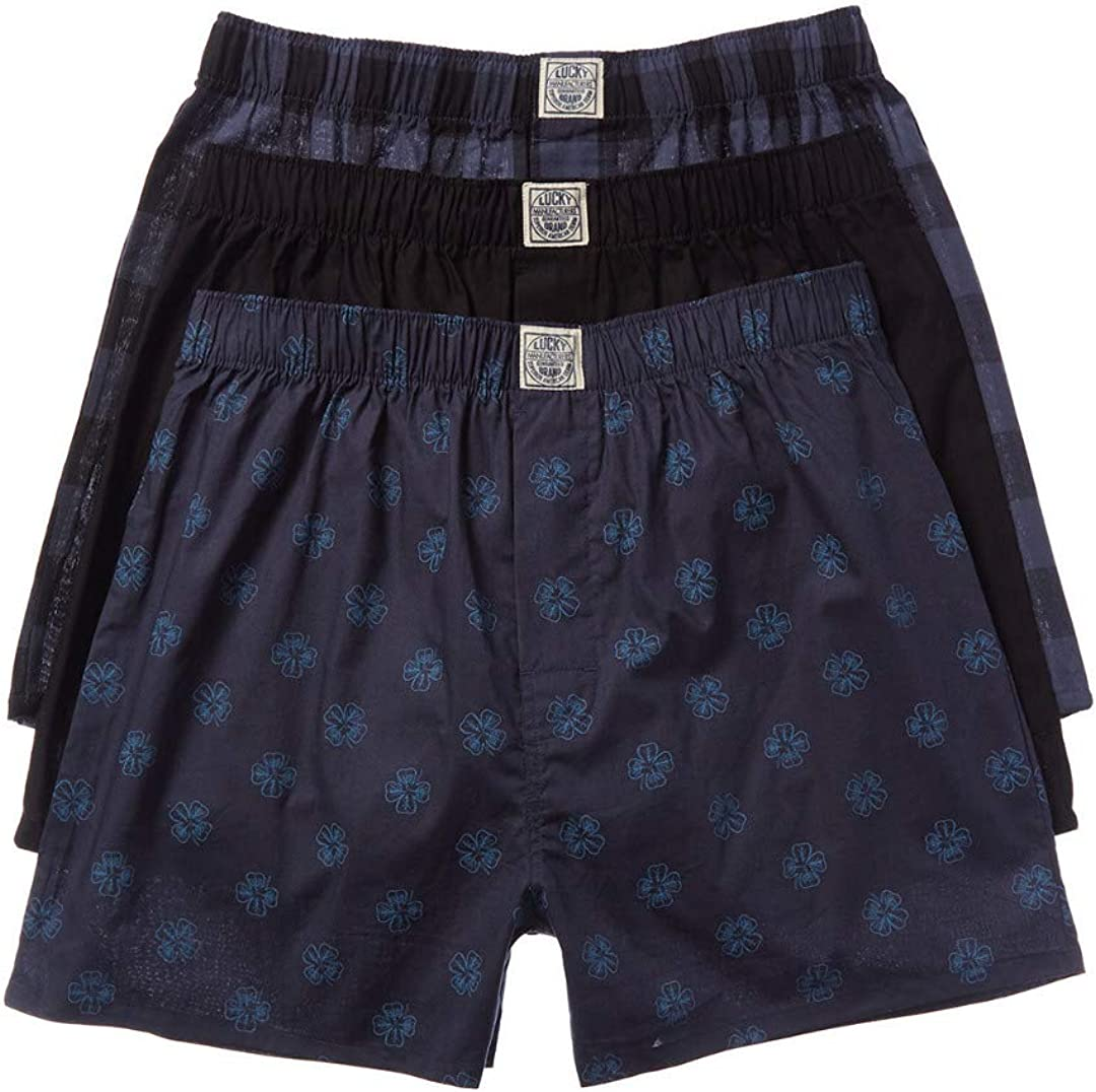 Lucky Men's Woven Boxers - 3 Pack 00CPB09