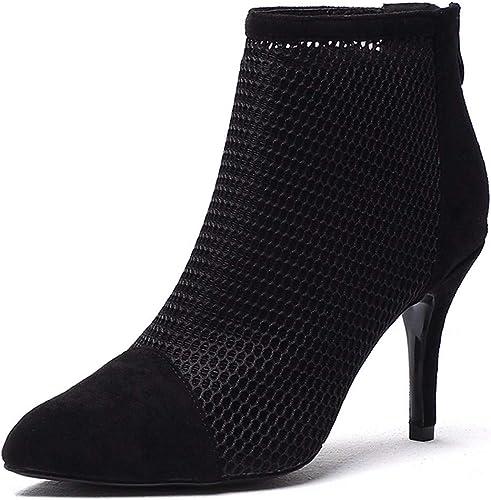 LBTSQ zapatos de mujer Transpirable De Moda De 8 Cm De Tacon Alto En Punta Tacon Fino 100 Sets Sexy Invierno botas