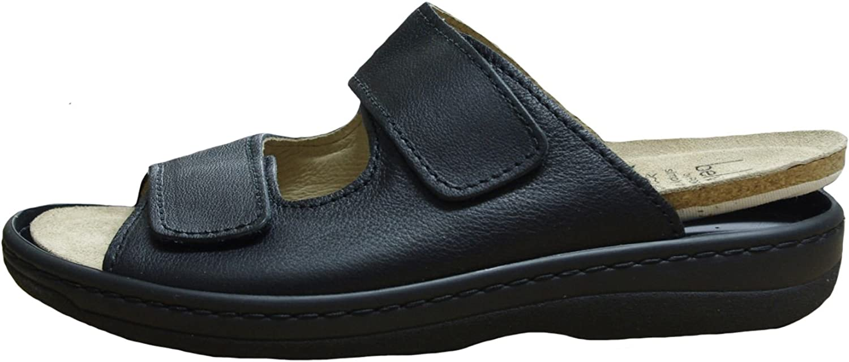 Belvida Herren Komfort Pantolette schwarz aus Leder von Gre 41 bis 46