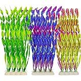 N / A Lot de 12 algues artificielles pour décoration d'aquarium, pour la maison et le bureau (3 couleurs)