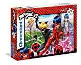 Clementoni- Miraculous Ladybug Miraculuos Supercolor Puzzle Maxi, Multicolor, 60 pezzi (26427)