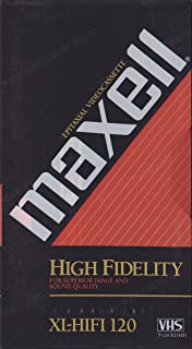 MAXELL T-120XLHF HiFi VHS Tape (Package of 1)