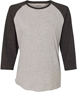 Ladies' Vintage Jersey 3/4 Sleeve Baseball T-Shirts in 5 Colors